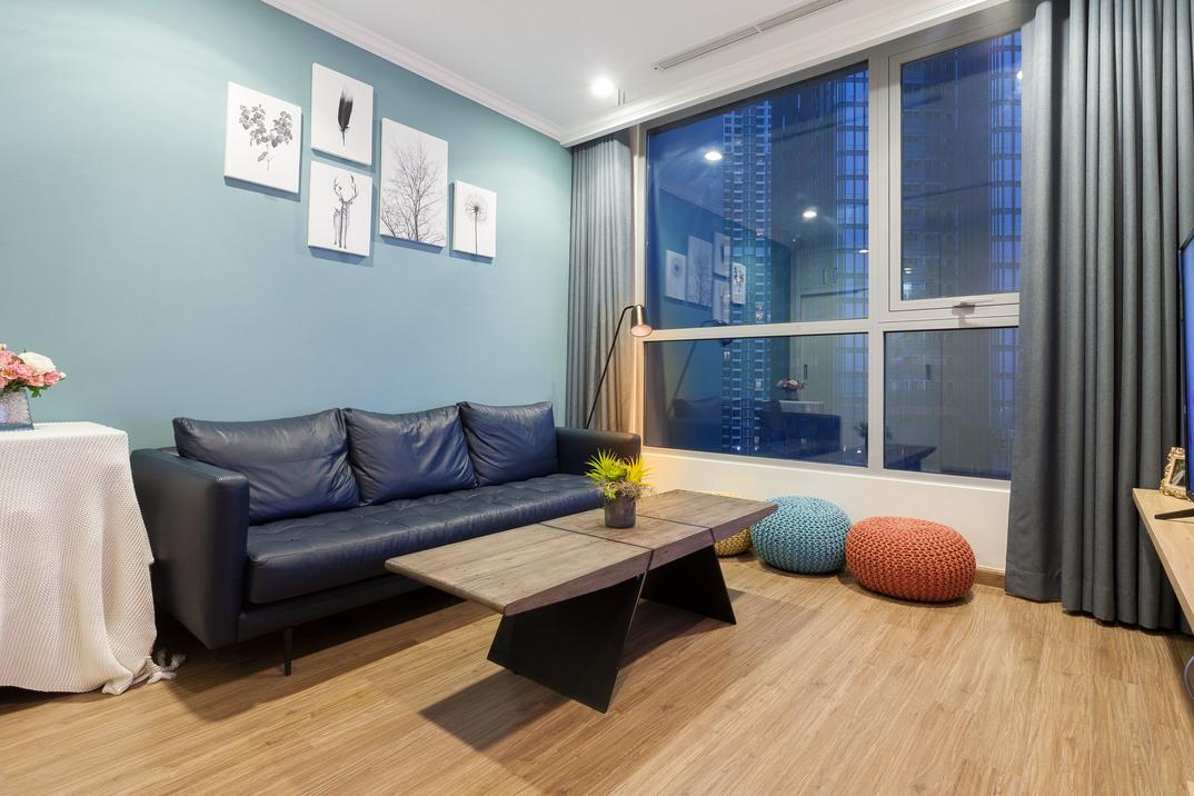 Căn hộ 3 phòng ngủ nội thất đẹp Vinhomes Central Park - ID 010066
